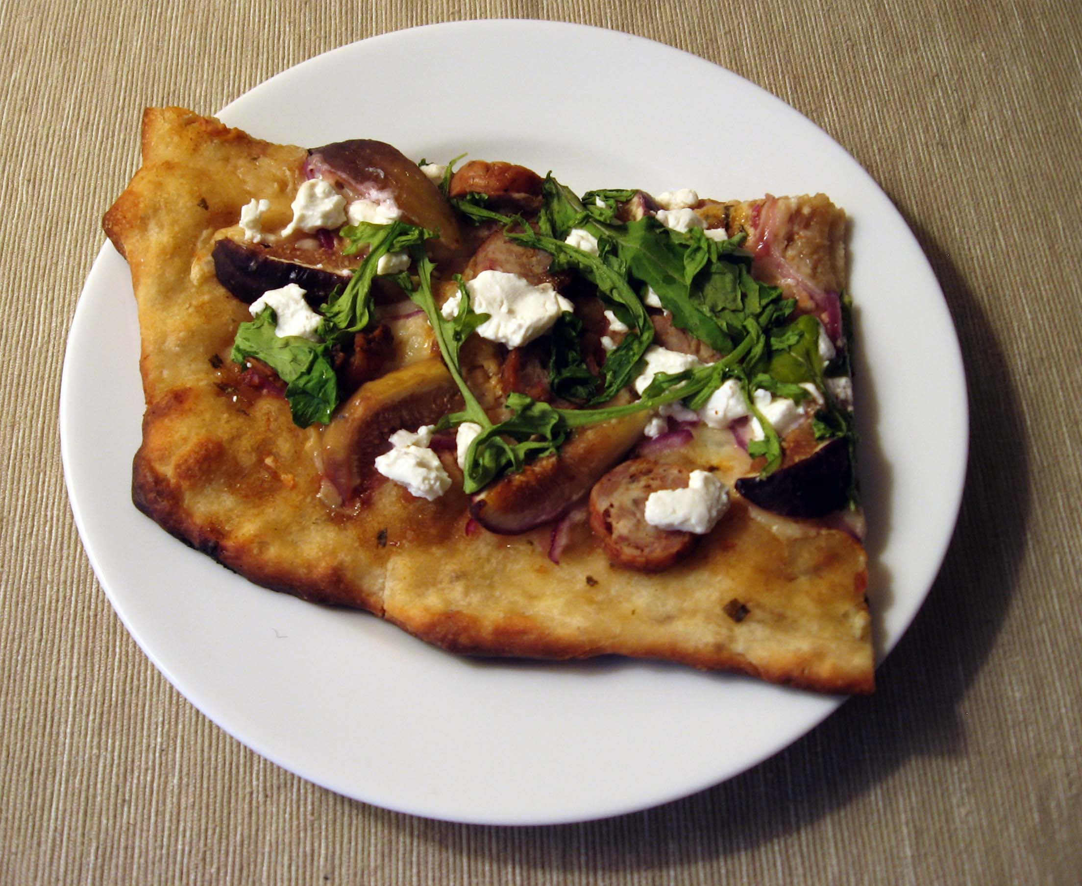 Sausage, Arugula, And Parsley Pizza Recipe — Dishmaps