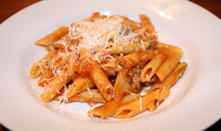 penne with sausage and fennel » penne with sausage and fennel